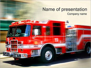 Fire Truck I pattern delle presentazioni del PowerPoint