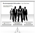 Businesspeople Silhouettes PPT Diagrams & Chart