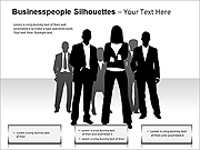 Businesspeople Silhouettes PPT Diagrams & Charts