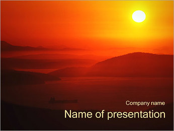 Beautiful Sunset PowerPoint Template