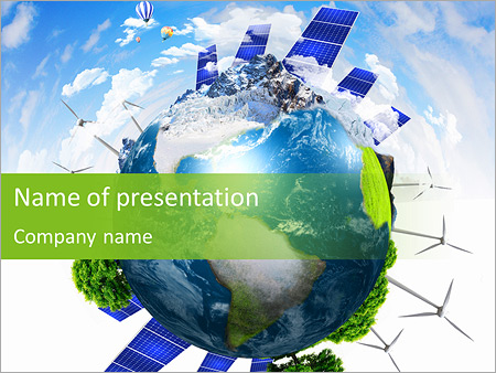 collage with solar batteries as alternative source of energy, Powerpoint templates