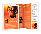 Beautiful female figure Brochure Templates