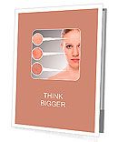 Concept skincare. Skin of beauty young woman before and after the procedure on a gray background Presentation Folder