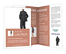 Business man from the back - looking at something over a white background Brochure Templates