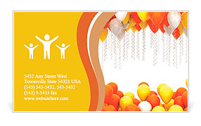 Party balloons isolated on white background Business Card Template