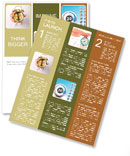 Hand holding through the hole in paper Newsletter Templates