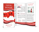 Isolated image of a red balloon over white Brochure Templates