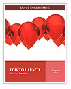 Isolated image of a red balloon over white Word Templates