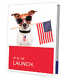 American dog with usa flag Presentation Folder
