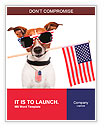 American dog with usa flag Word Templates