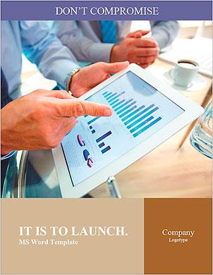 As pessoas modernas que fazem negócios, gráficos e tabelas que estão sendo demonstradas na tela de um touch-pad  Modelos lexicai - Página 1