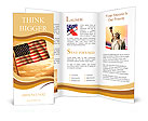 Old American Flag waving over sunset, USA flag for USA Independence Day, USA The Stars and Stripes f Brochure Templates