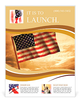 old american flag waving over sunset usa flag for usa independence day usa the stars and stripes f flyer template