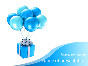 3d shiny ballons PowerPoint Template