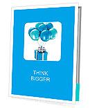 3d shiny ballons Presentation Folder