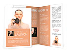 Picture of calm teenage girl with digital camera Brochure Templates
