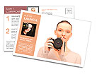 Picture of calm teenage girl with digital camera Postcard Template