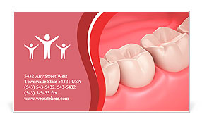 3D teeth or tooth close up illustration Business Card Template