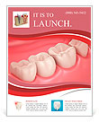 3D teeth or tooth close up illustration Flyer Template