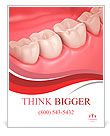 3D teeth or tooth close up illustration Poster Template