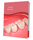 3D teeth or tooth close up illustration Presentation Folder