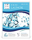 Water splash with ice cubes Flyer Templates