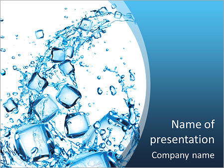 Water splash with ice cubes powerpoint template backgrounds id water splash with ice cubes powerpoint template toneelgroepblik Image collections
