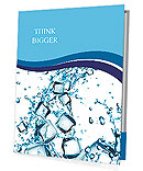 Water splash with ice cubes Presentation Folder