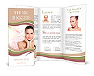 Portrait of young beautiful woman with healthy skin Brochure Templates