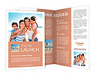 Closeup of happy family at the beach Brochure Templates