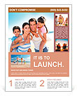 Closeup of happy family at the beach Flyer Template