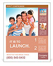 Closeup of happy family at the beach Poster Template