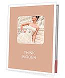 Very beautiful brunette in a wedding dress. Rero style Presentation Folder