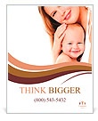 Young mother hugging baby Poster Template