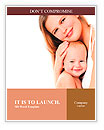 Young mother hugging baby Word Templates
