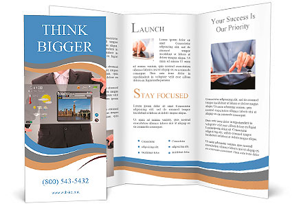 Digital world concept graphic presentation made by for Digital brochure templates
