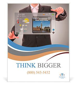 digital world concept graphic, presentation madebusinessman on, Graphic Presentation Poster Template, Presentation templates