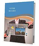 Digital world concept graphic, presentation made by businessman on futuristic user interface Presentation Folder