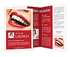 Woman smile. Teeth whitening. Dental care. Brochure Templates