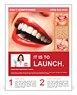 Woman smile. Teeth whitening. Dental care. Flyer Template
