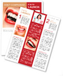 Woman smile. Teeth whitening. Dental care. Newsletter Template
