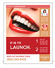 Woman smile. Teeth whitening. Dental care. Poster Template
