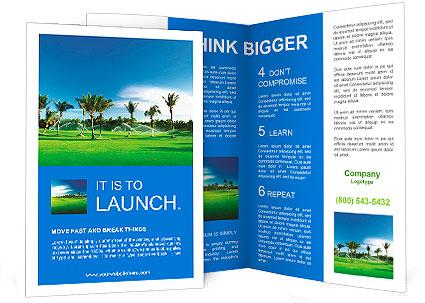 Irrigation Golf Course In Dominican Republic Brochure Template - Golf brochure templates
