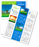Irrigation golf course in Dominican republic Newsletter Template