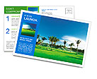Irrigation golf course in Dominican republic Postcard Template