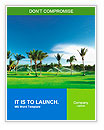 Irrigation golf course in Dominican republic Word Templates