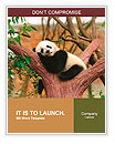 Sleeping giant panda baby Word Template