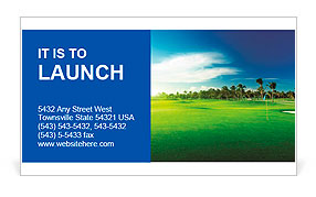 Golf course Business Card Template