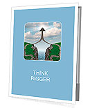 Bridge the gap and bridging the differences in two business partners over a financial cliff to merge Presentation Folder