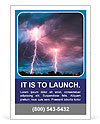 Clouds and thunder lightnings and storm Ad Templates
